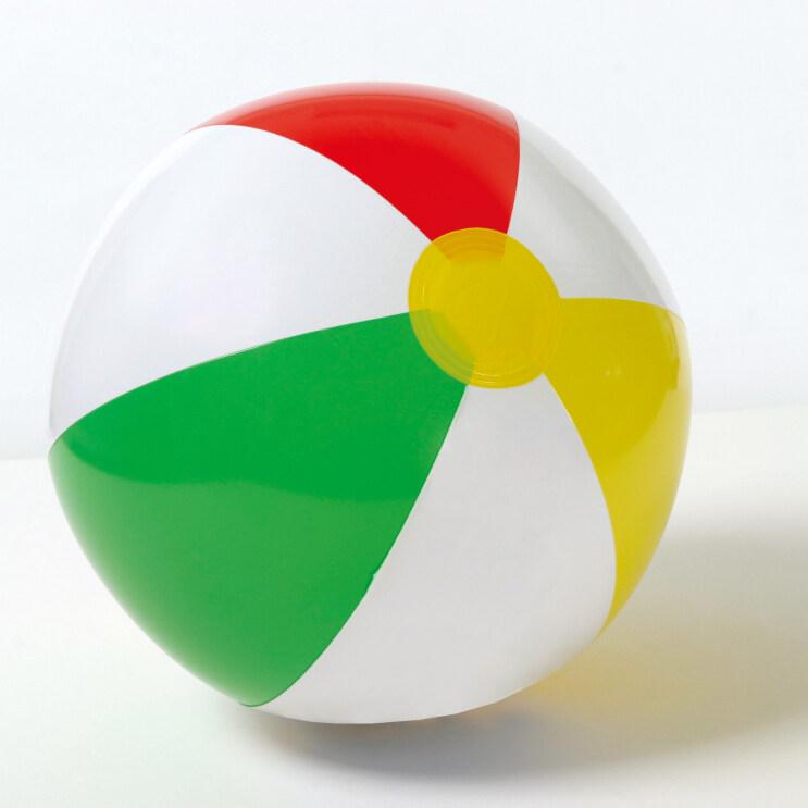 INTEX โปร่งใสสี่สีชายหาดลูกบอลชายหาดลูก