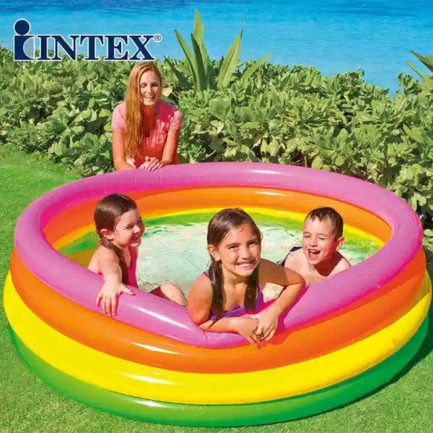 Intex 56441 สระน้ำเป่าลม ทรงกลม ขนาด 168 x 46 ซม.