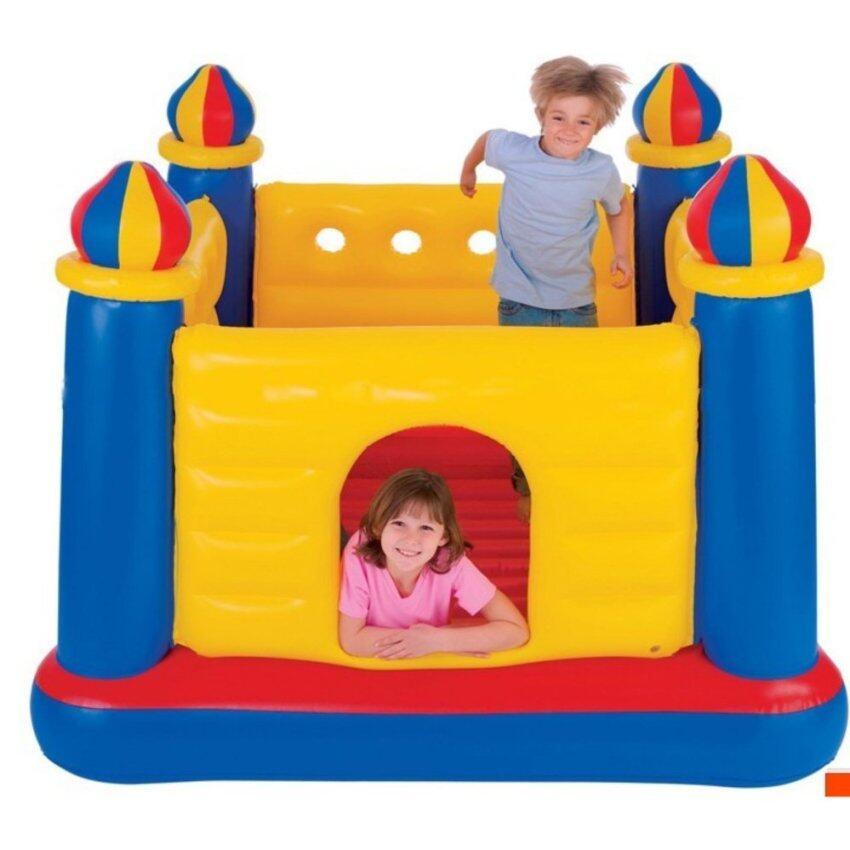 Intex Jump-O-Lene bouncy castle บ่อกระโดดปราสาท 48259 + สูบไฟฟ้า