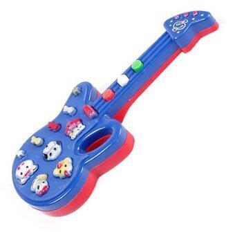 IT and Home กีต้าร์ สำหรับเด็ก กีต้าร์ไฟฟ้า ของเล่นเด็ก(น้ำเงิน/แดง)