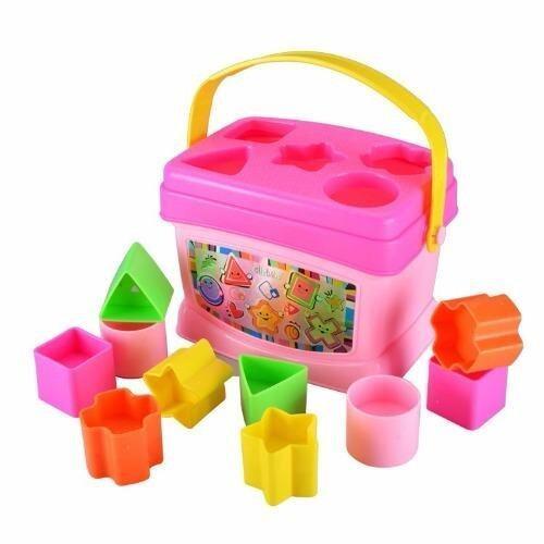 Jolly Baby บล็อกหยอด - First Blocks Skill Building Fun - สีชมพู