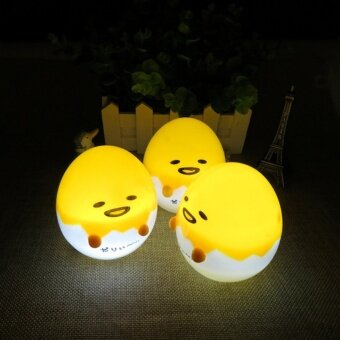 Kawaii Mini Japan Anime Harajuku Gudetama Lazy Egg 8CM Mini LampCute Small Night Light Figure Kid Gifts - intl