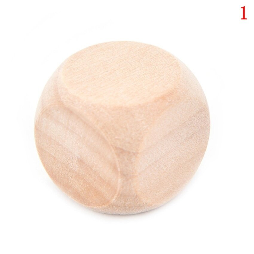 Large wooden wooden dice white dice Tabletop Games size :1.8cm - intl