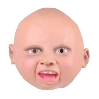 Latex Disgusted Happy Cry Baby Costume Halloween Full Head Partymasks - intl