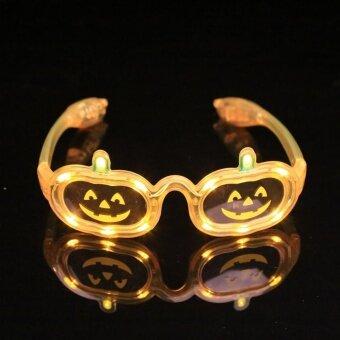 LED Light Shutter Sunglasses Pumpkin Blink Glow Glasses SuppliesGift - intl