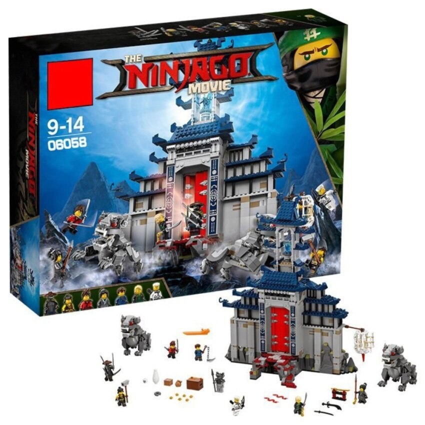 LELE Ninjago Movie Temple Ultimate Weapon ตัวต่อนินจาโกโรงฝึกนินจา