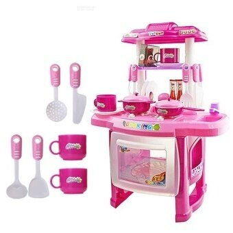 Lucky New Best New Beauty Kitchen Cooking Toy Play Set For Children Andparents(Pink) - intl