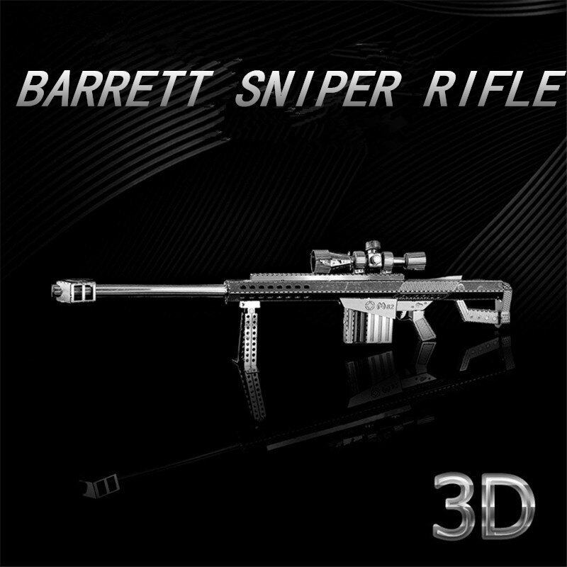 M82A1 Scoped Rifle 1:10 3D Metal Model Puzzle Stainless Steel DIY Creative Gifts Chinese ICONX