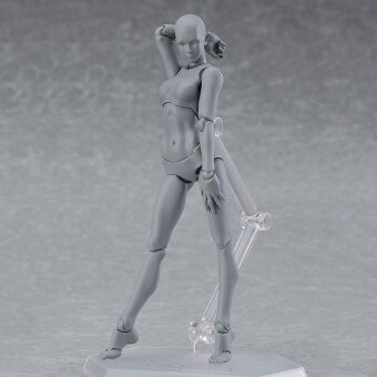 Male/Female PVC Action Figma Figure Model Body Toy For PaintingDrawing Sketch - intl