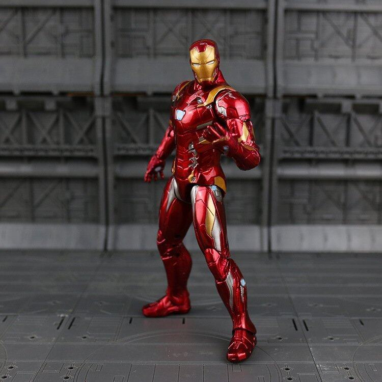 Marvel Captain America Iron Man PVC Action Figure Collectible Model Toy