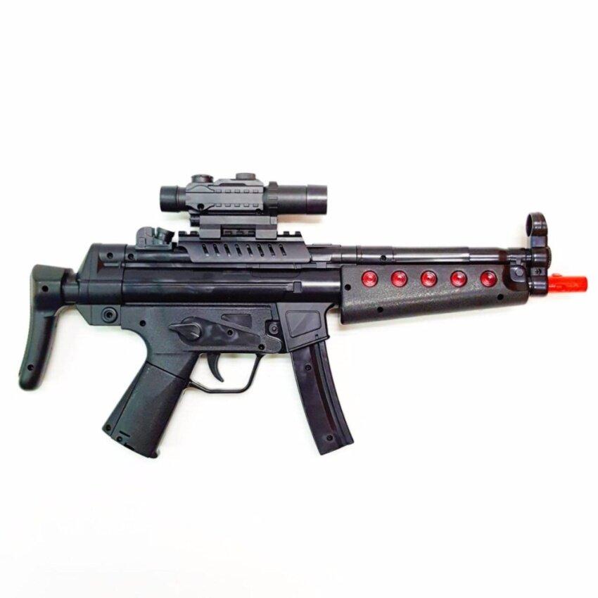 MP5 Submachine Gun ปืนกล MP5 มีเลเซอร์ เสียง ไฟวิ่ง สั่นได้