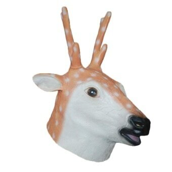 Natural Rubber Sika Deer Head Party Halloween Masquerademasks - intl