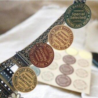 NBJU 240pcs/set Festive Decoration Vintage Round Sealing Sticker -intl