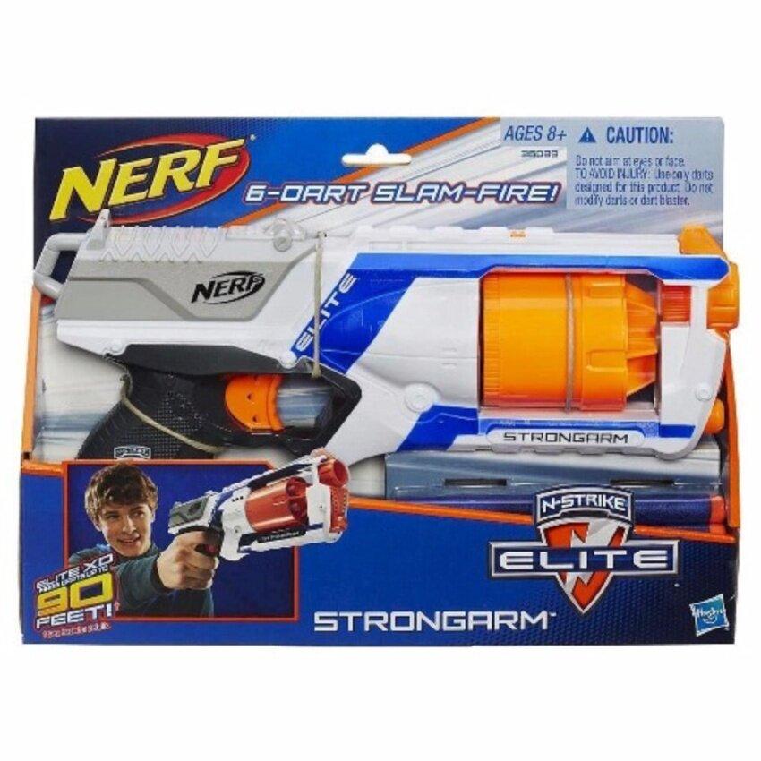 ปืนของเล่นกระสุนยาง ลูกโม่ Nerf N-Strike Elite Strongarm Blaster (ปืนเนิร์ฟ)
