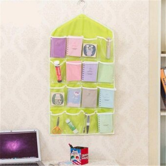 New Wall Door Hanging Storage Bag Pocket Holders Home Key Organizers 16 Pockets - intl