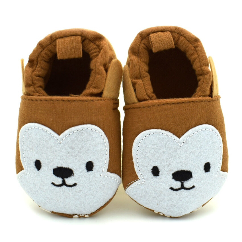 Newborn Toddler Baby Boys Girls Soft Skidproof Prewalkers Slippers Shoes 0-18 months Monkey