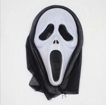 One Piece Halloween Bleeding Scream Scary Horror Ghost Mask Can Be Used During Dress Party Screaming - intl