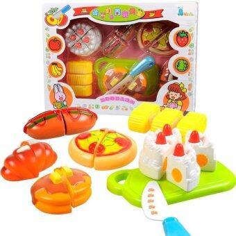 One Toys อาหารหั่น6ชิ้น ชุดเค้ก พร้อมอุปกรณ์