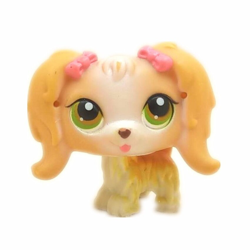 Original 1pc LPS quality cute toys Lovely Pet doll animal Small cute dog with a braid action shop figure littlest doll toys - intl