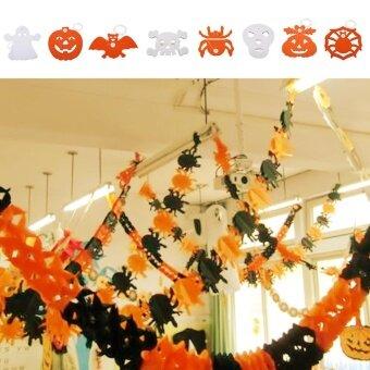 Party Horrible Halloween Pumpkin Spider Ghost Paper Garland PropHaunted House Decor - intl