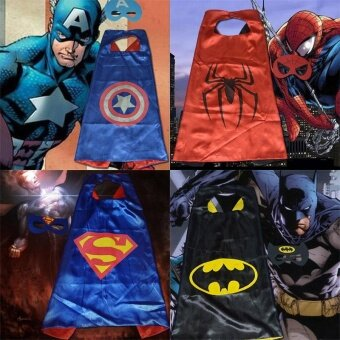 Party Kid Super Hero Cape Mask Fancy Costume Cosplay OutfitChildren Favors - intl
