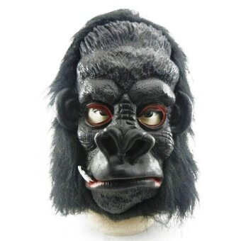 Party Orangutan Monkey Ape Latex Adult Halloween Mask Action MouthProps Decor - intl