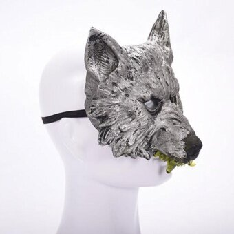 Party Wolf Mask Halloween Costume Kids Children Role Play For FunnyCelebration - intl