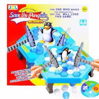 ของเล่นเสริมพัฒนาการ ใช้ความคิด เกมทุบน้ำแข็ง เพนกวินสะเทือนPenguin Trap
