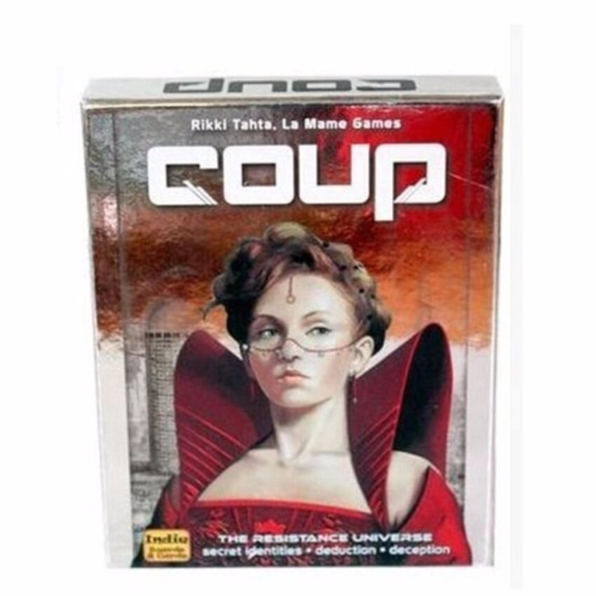 PentaQ Coup Reformation Board Game 2-6 Players For Party Play - intl
