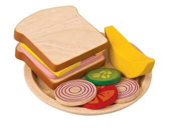 PlanToys ของเล่นไม้ ชุดอาหารแซนวิส Sandwich Meal