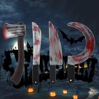 Plastic Bloody Halloween Prop Weapons Fancy Knife Cleaver Sickle Costume Access - intl