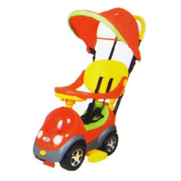 Play Us รถขาไถเข็นเด็ก 2 in 1 มีหลังคา - สีส้ม รุ่น FW-632