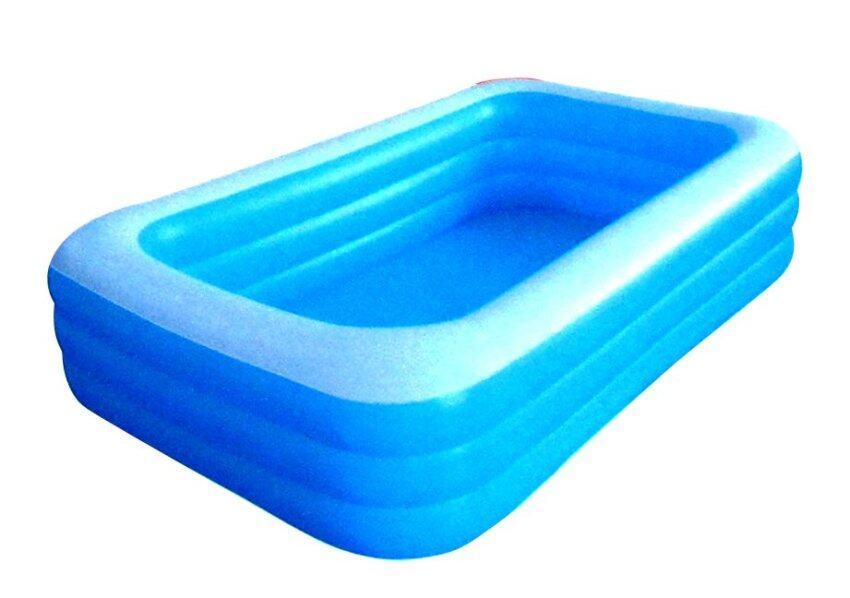 Play Us สระน้ำ 3 เมตรทรงสี่เหลี่ยมใหญ่ 3 ชั้น - สีฟ้า รุ่น FW-937