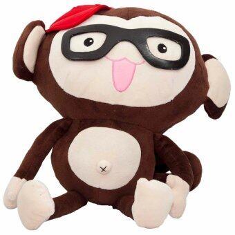 ตุ๊กตาลิงใส่แว่นแดง (สีน้ำตาล)
