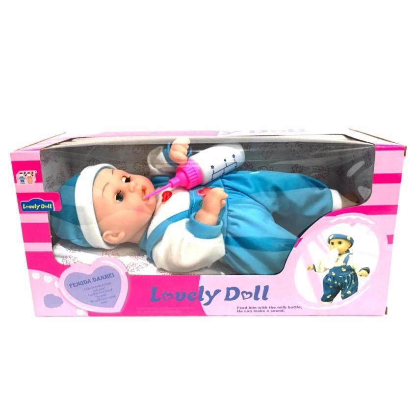 ตุ๊กตา เด็กอ่อน + ขวดนม มีเสียง หลากหลาย