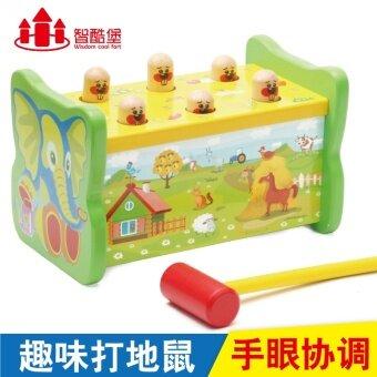 ทารกและเด็กเล็กไม้สนุกของเล่นเล่นหนูแฮมสเตอร์