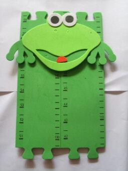 การ์ตูน วัดความสูงและเท้าสติ๊กเกอร์ติดผนัง
