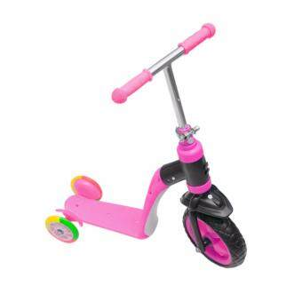 Promark สกู๊ตเตอร์ 3 ล้อ 2 in 1 Scooter & Balance Bike 2 in 1 with Mode Change(Pink)