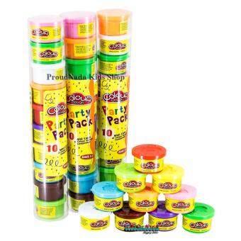 แป้งโดว์ 10 สี Colour Dough Party Pack 10 Mini Cans NO.6610