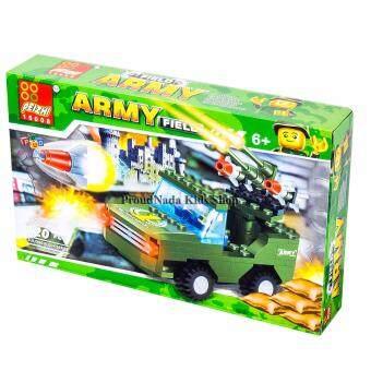ของเล่นเด็กชุดตัวต่อเลโก้รถทหาร PEIZHI ARMY FIELD120 PCS 0327