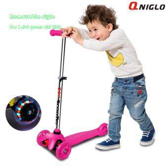 Qniglo hot sale adjustable wholesale 3 wheel kids scooter balancescooter with flash wheels