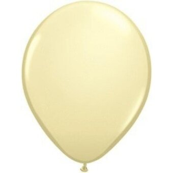 Qualatex 5 Inch Round Balloons  Ivory Silk - Pack of 100 - intl