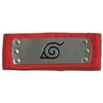 Red Naruto Leaf Village Konoha Metal Plated Cosplay Headband - intl
