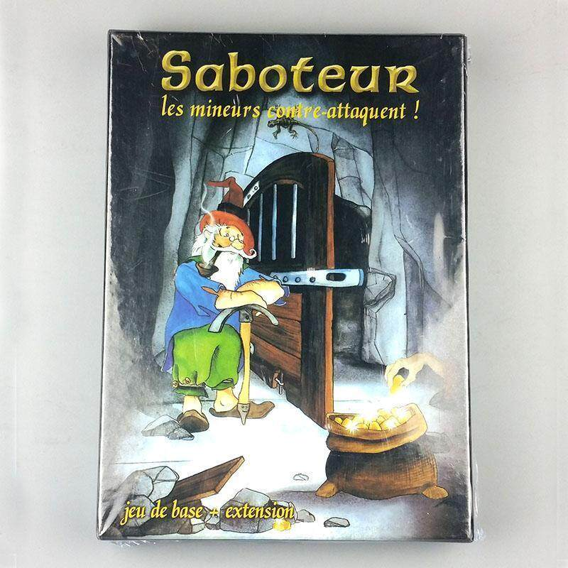 Saboteur Board Game 1+2 Version Jeu De Base+Extension Board Game with English Instructions Family Board Christmas Party Game - intl