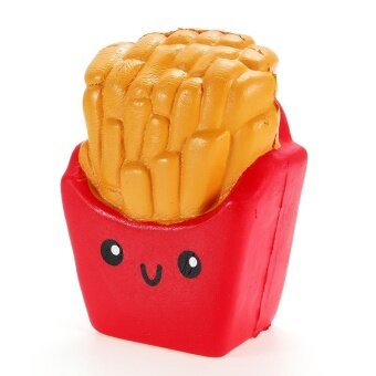 SanQi Elan Squishy French Fries Chips Slow Rising Squeeze Stress Relieve Toys Red - intl