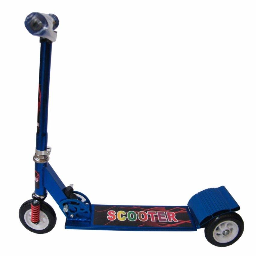 Scooter สกู๊ตเตอร์ 3 ล้อ ใหญ่ มีโช๊ค อลูมิเนียม แฮนนิ่ม(สีฟ้า)