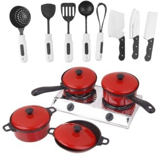 Set Plastic Chef Kitchen Cookware Food Pretend Play Toys for KidsChildren by LuckyGirl Store - intl