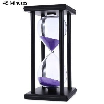 SH Hourglass Sand Timer 45 Minutes Wood Sand Timer for Kitchen Office School Decorative Use Black Black - intl
