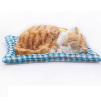 Simulation animal cat bed pet sleepping cat can meow - Intl