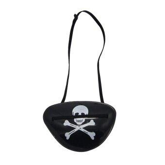 Skull Bone Halloween Cosplay Fancy Dress Pirate Eyepatch Costume Eyeshade Gift - intl